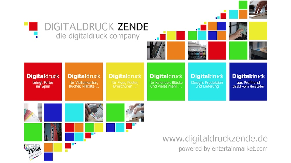Digitaldruck Zende erhält animiertes Cooperate-Design