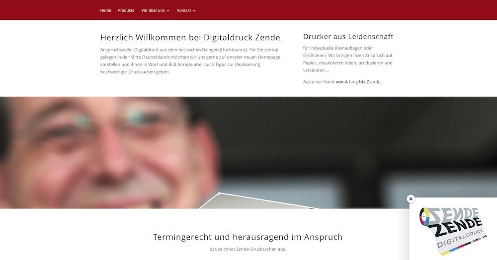 Digitaldruck Zende stellt seine neue responsive Homepage vor